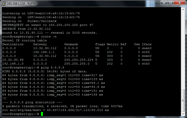 MyPi Industrial Raspberry Pi Sierra Wireless MC7304 3G Modem QMI Internet Connection Configuration Step 5