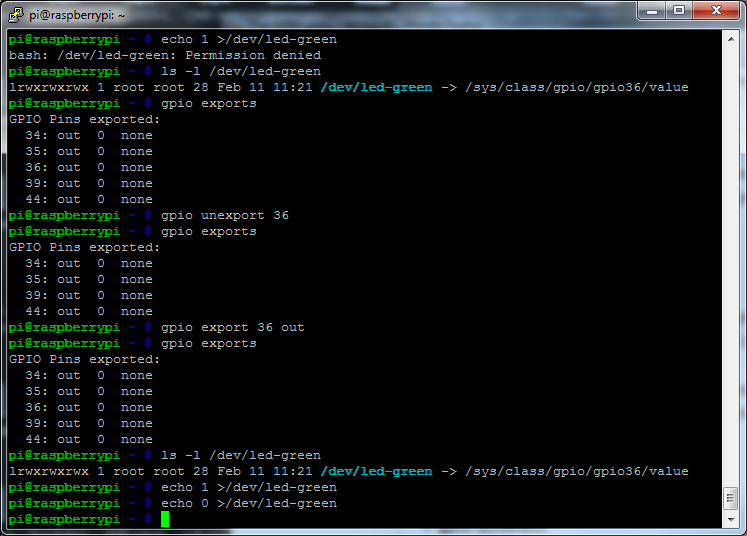 MyPi Industrial Raspberry Pi Command Line GPIO Example Step 3